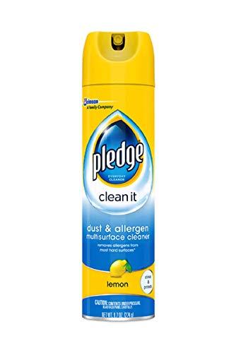 Pledge Dust & Allergen Multisurface Cleaner, Lemon Scent, 9.7 Ounces (Pack of 2)