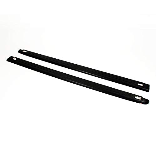 Wade 72-01451 Truck Bed Rail Caps Black Ribbed Finish with Stake Holes for 2002-2009 Dodge Ram 1500 2500 with 6.5ft bed (Set of 2)