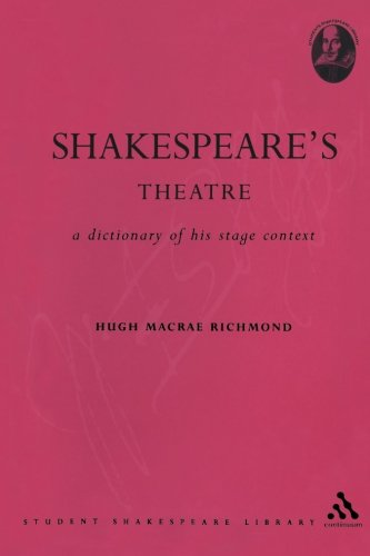 Shakespeare's Theatre: A Dictionary of his Stage Context (Student Shakespeare Library)