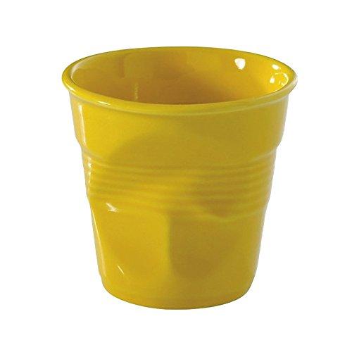 Revol Froisses 619085 Espresso Crumple Tumbler, Seychelles Yellow