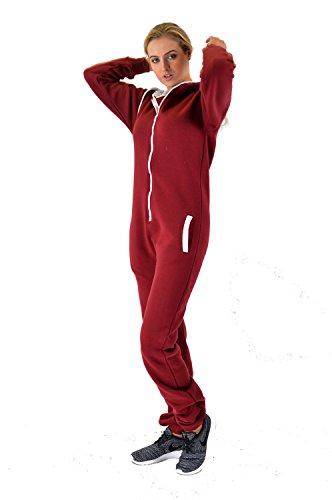 heiße Verkäufe Herren Damen Unisex Overall Kapuzenpullis jumpsuit alle Größen (stepp-wein, XL)