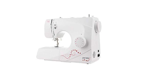 Mini máquina de Coser portátil Hogar Multifuncional máquina de Coser eléctrica pequeña máquina de Coser Adecuado for Principiantes Blanca Herramienta de Costura del ...