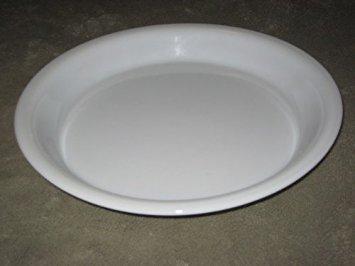 (Vintage Pyrex Milk Glass w/ Gold Band 10 Inch Pie Baking Pan )