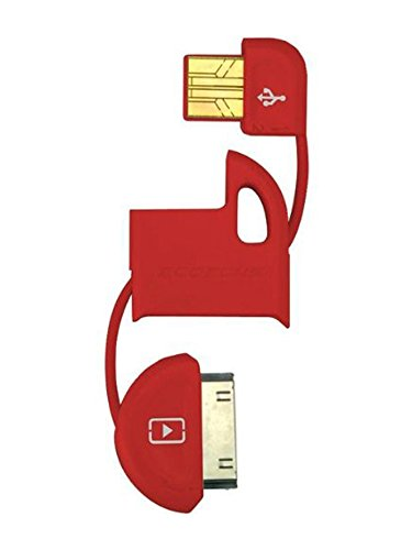 Scosche IPUSBMR flipSYNC Keychain USB Charge and Sync Cable, Red
