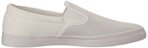 Fred Perry Men's Underspin Slpon Chkbrd Lea CNV Sneaker Snow White store GB4YSj2s