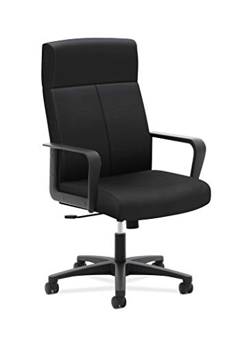 HON Validate Executive Chair – High Back Armed Office Chair for Computer Desk, Black (HVL604)