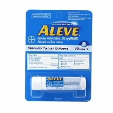 Aleve ALL DAY Strong Pain/fever Reducer Naproxen Sodium Tablets , 220 Mg (Nsaid) - 2 Pack of 10 Tablets