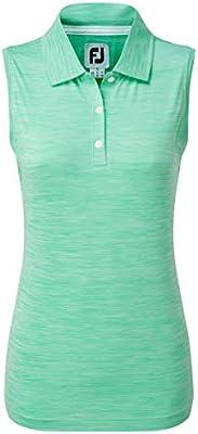 Footjoy Womens Lisle Sleeveless Shirt with Neck Trim Polo, Mujer ...