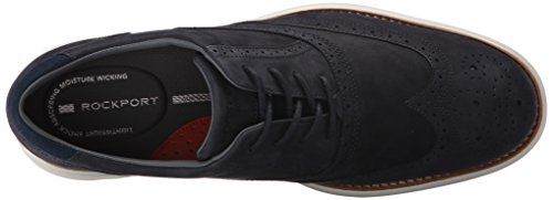 Rockport Mens Total Motion Fusion Wingtip Shoe New Dress Blues