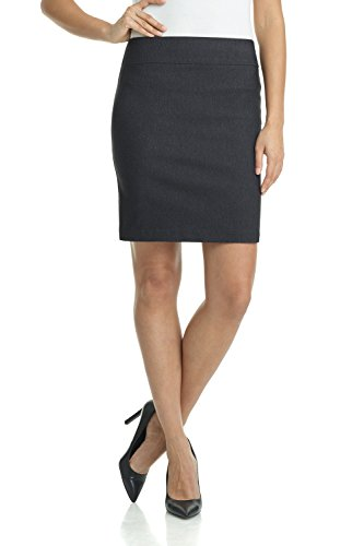 (Rekucci Women's Ease Into Comfort Above The Knee Stretch Pencil Skirt 19 inch (XX-Large,DK Charcoal))