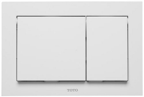 (Toto YT800#WH Rectangle Push Plate Dual Button, White )