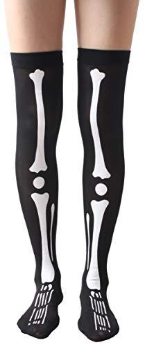 Womens Novelty Halloween Stockings Costume Over Knee Thigh High Socks -