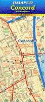 Concord New Hampshire Laminated - Concord Of Map New Hampshire