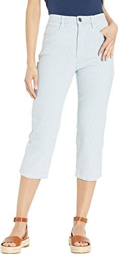 FDJ French Dressing Jeans Women's Stripe Denim Suzanne Capris in Chambray Chambray 8 21
