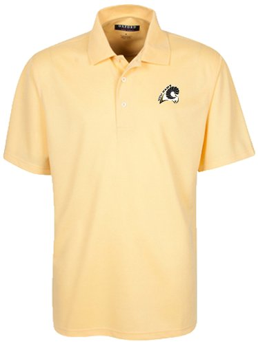 Oxford NCAA Virginia Commonwealth Rams Men's Micro-Check Golf Polo, Citrus, XX-Large by Oxford