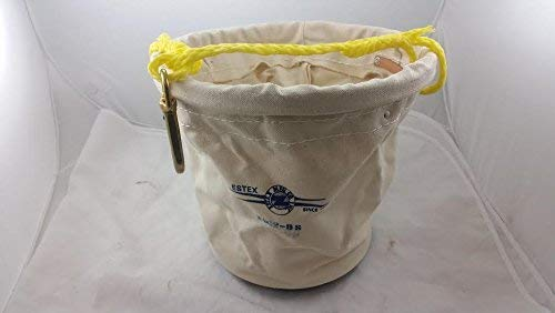 (New Estex 2062-BS Plastic-Bottom Canvas Tool Bucket Fast Shipping!!!)