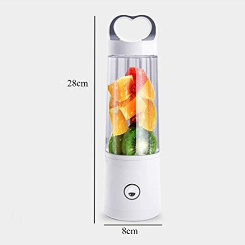 LI_HUA Exprimidor de la licuadora Juicer Blender Juicer Cup Portable USB Recargable Smoothie Maker Extractor de Frutas para el hogar Exterior 400 ml