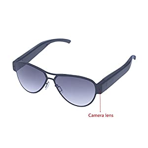 Mofek Mini Camera Glasses 1080P HD Camera Eyewear 8GB Surveillance Video Recorder Shoot Photo