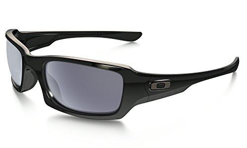 Oakley Fives Squared Sunglasses Polished Black / Grey & Cleaning Kit - Squared Black Oakley Fives