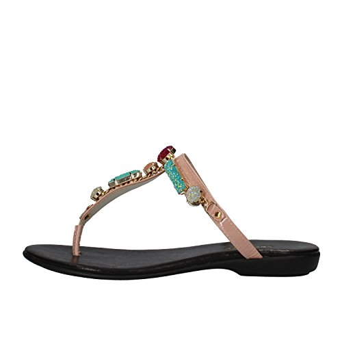 cesare-paciotti-sandals-woman-pink-black-patent-leather-8-us-38-eu-pink