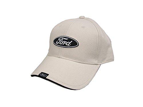 (Hot Shirts - Men's Ford Tag Hat: Bone - F-Series Ford Truck Mustang GT Boss 302 Edge Focus Torino Fox Body Ponycar Shelby GT350 GT500 Cobra)