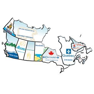 rv canada province sticker set motorhome stickers for canadian territory countor map sticker set