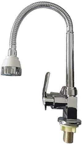 Gulakey バスルームのシンクは、スロット付き浴室の洗面台のシンクホットコールドタップミキサー流域の真鍮のシンクの亜鉛合金スクエアシングルコールド垂直洗浄ユニバーサルチューブ野菜流域の蛇口クイックオープニング蛇口をタップ