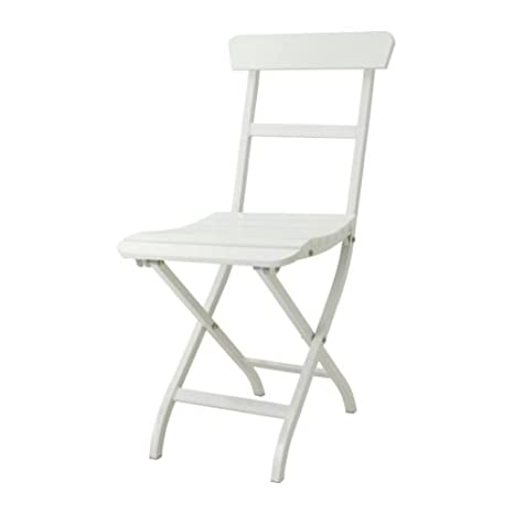 IKEA MALARO - silla plegable blanco: Amazon.es: Hogar
