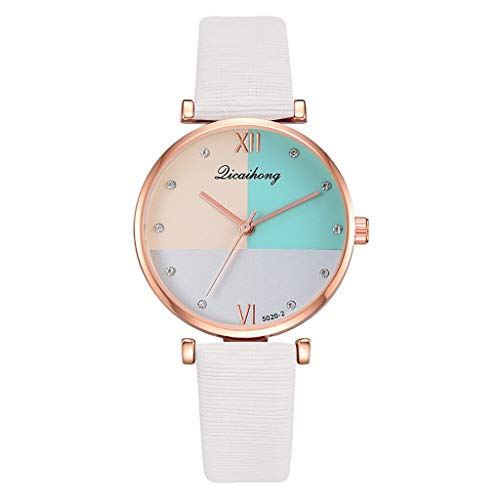 Aoesila Licaihong Fashion Simple Three Color Flat Dial Belt Quartz Female Watch Outstanding Watch ()