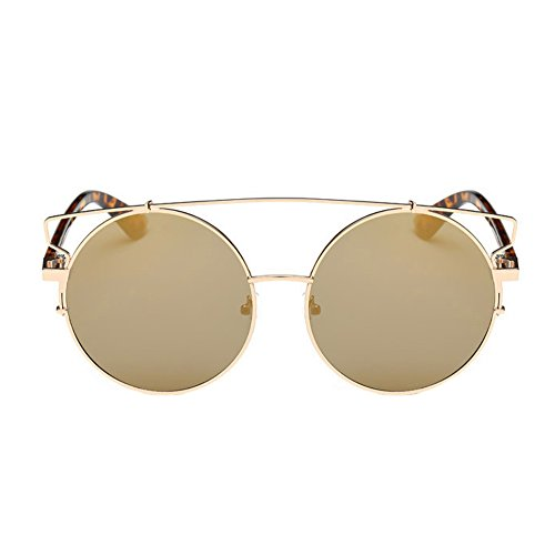 VESNIBA Vintage Sunglasses, Women Men Vintage Retro Glasses Unisex Fashion Aviator Mirror Lens Sunglasses (Gold -1) (Aviator Goggles Kinder)