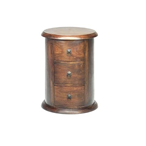 Jali Sheesham 3 Drawer Drum Chest Of Drawers   Indian Wood Furniture By  Jali Sheesham Furniture