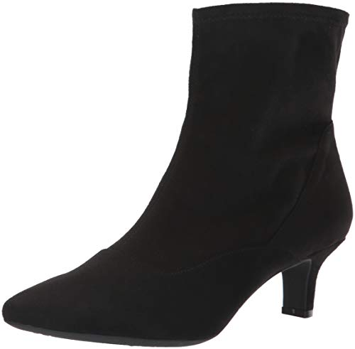 Rockport Women's Kimly Stretch Bootie Ankle Boot, Black Microsuede, 8.5 M US (Rockport Boot Women)