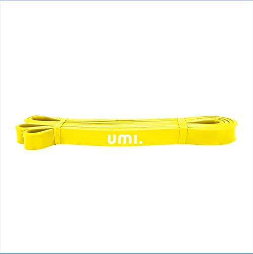 Umi. Essentials Widerstandsbänder Fitnessbänder Natürlichem Latex Mini Gymnastikbänder für Klimmzug Krafttraining Crossfit Pilates Yoga Fitness Sport Muskelaufbau (Gelb(40-70LB))