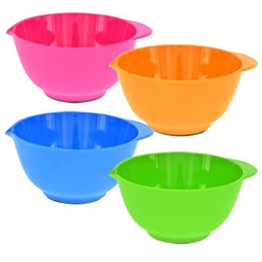Colorful Mini Ingredient Prep Mixing Bowls, set of 4