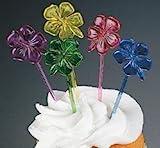 Kyпить 72 Hibiscus Flower Food Cocktail Cupcake Picks for Luau Parties на Amazon.com