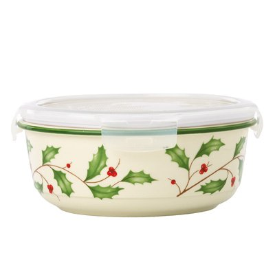 Lenox Holiday Bakeware (Lenox HOLIDAY SERVE & STORE W/LOCK LID)