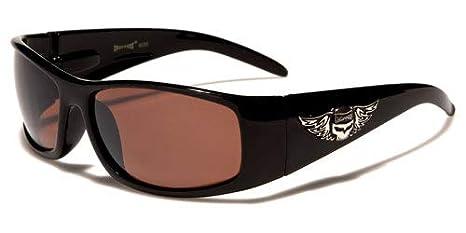2er Pack West Choppers Locs Fahrradbrille Sonnenbrille Männer Frauen braun weiß