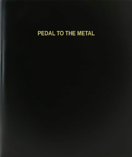 BookFactory Pedal To The Metal Log Book / Journal / Logbook - 120 Page, 8.5