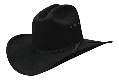 Western Express All Black Faux Felt Cowboy Hat with Black Band - 6 3/4