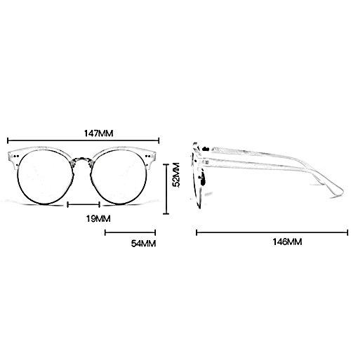 la 03 polarizado de sol Gafas Color 05 de playa la viaje del manera de de ZHIRONG sol de de gafas redondo retra ligero marco la redondas muchacha conducción Zq6wFxn8