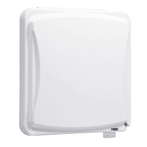 TayMac MM1410W 55-in-1 Configurations 2-Gang Vertical Weatherproof Plastic Flat Cover, White
