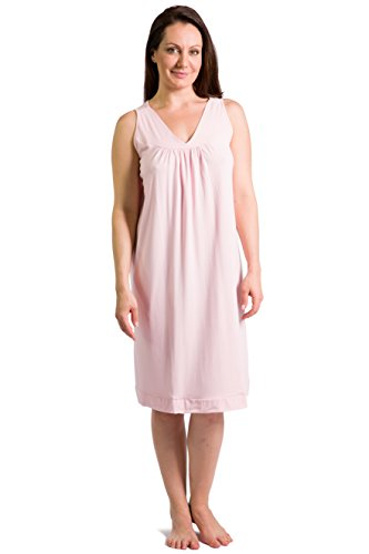 Fishers Finery Women's Tranquil Dreams Sleeveless Nightgown  Comfort Fit, Heavenly Pink, Large (01 Stack Cool)