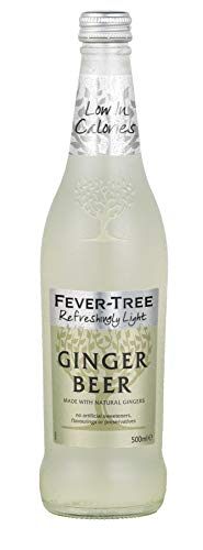 Fever-Tree Refreshingly Light Ginger Beer, 16.9 Fl Oz Glass Bottle (8 Count)