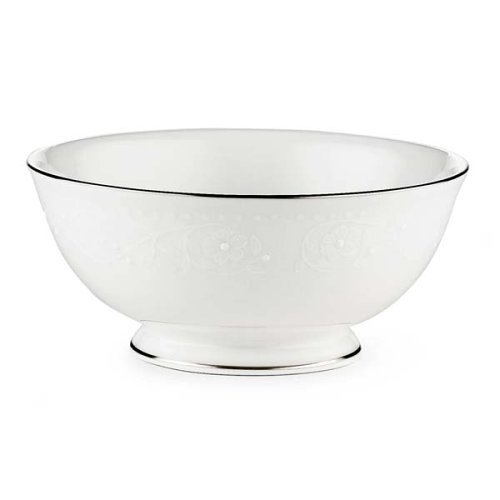 Lenox Floral Veil Bone China Platinum Banded Fruit - Banded Bowl Serving China Ivory