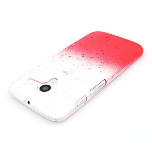 Yousave Accessories - Carcasa rígida para Motorola Moto X, diseño de gotas de lluvia, color rojo y transparente