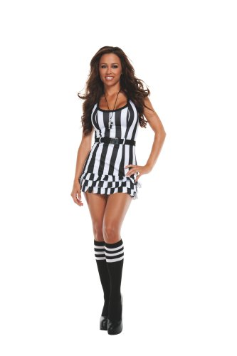 [Starline Costumes Flirty Referee, Black/White, Medium] (Woman Referee Costume)