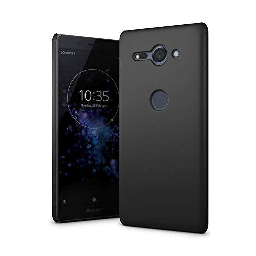 SLEO Sony Xperia XZ2 Compact Case - Rubberized Hard PC Back Case Cover for Sony Xperia XZ2 Compact Phone - Black