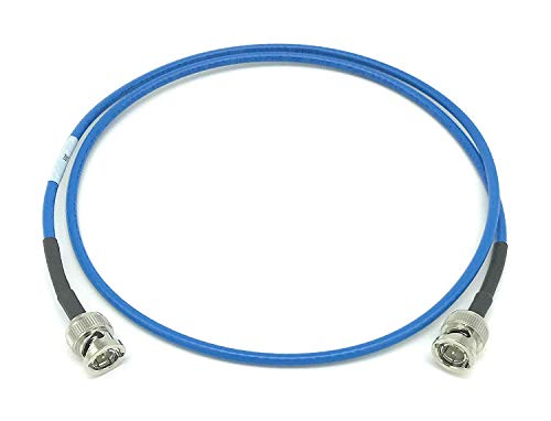 AV-Cables 12G 4K HD SDI BNC - BNC Cable Belden 4855R Mini RG59 (25ft, Blue)