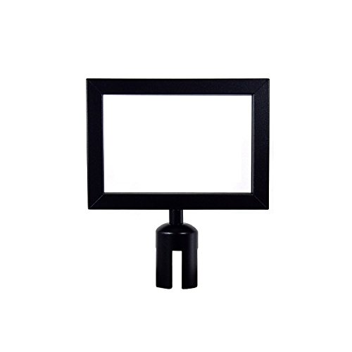 "Apex Retractable Belt VIP Sign Frame 11"" X 8"" Landscape in Black"