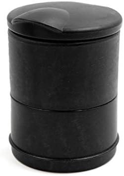 uxcell 車の灰皿 ブラック 自動車 オート シガレット ストレージボックス ポケット ホルダー カップ ブルー LED ライト